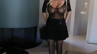 Passionate mom with big boobs gets fucked