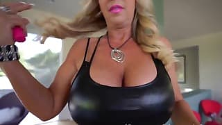 Gorgeous blonde with big boobs gets fucked