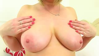 Big tits mom solo action in the bedroom