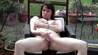 Awesome MILF with big boobs gets naked