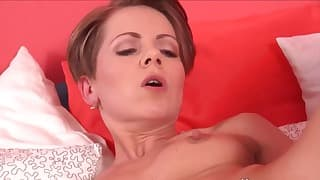 Seduced small-tit mom hd solo action
