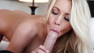 Sensual blonde gets penetrated by a big dick