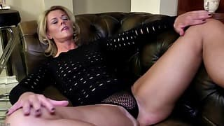 Sexy mom opens her hungry wet pussy