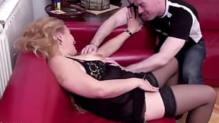 Dick-sucking busty MILF loves hard sex