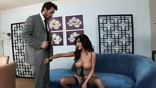 Sexy brunette mom porn tube session