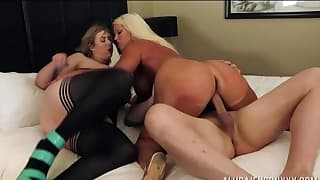 Stunning blondies love dick riding so much