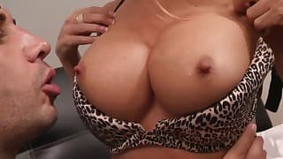 Spicy busty brazzers chick likes sex